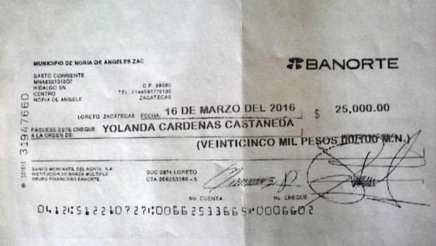 Denuncia Udena compra de votos en Noria de Ángeles por parte del alcalde Héctor Esparza