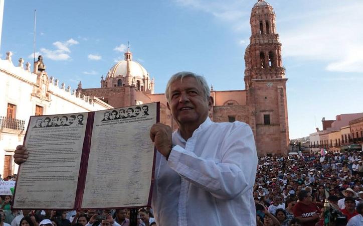 La firma del Acuerdo Político de Unidad por la Prosperidad del Pueblo y el Renacimiento de México en Zacatecas