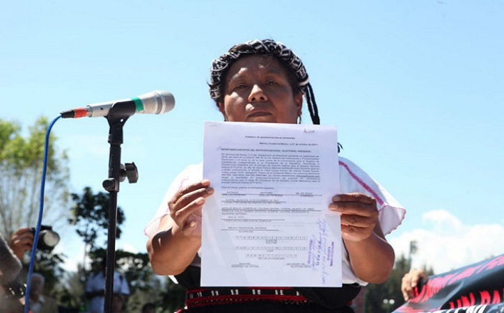 Se registra candidata zapatista a la presidencia de la República