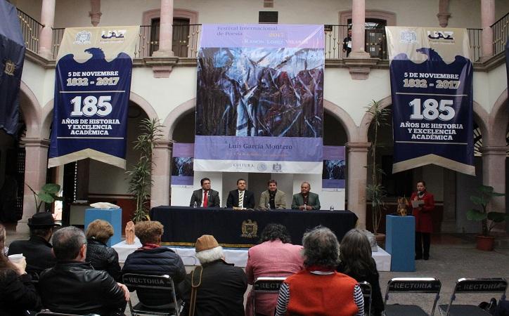 Inician las actividades del Festival Internacional de poesía Ramón López Velarde 2017