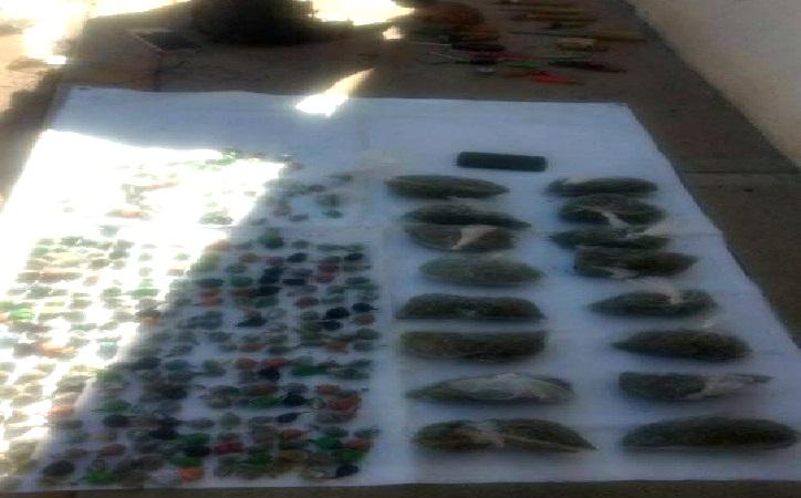 326 dosis de droga y 32 puntas hechizas decomisan en Cereso de Cieneguillas