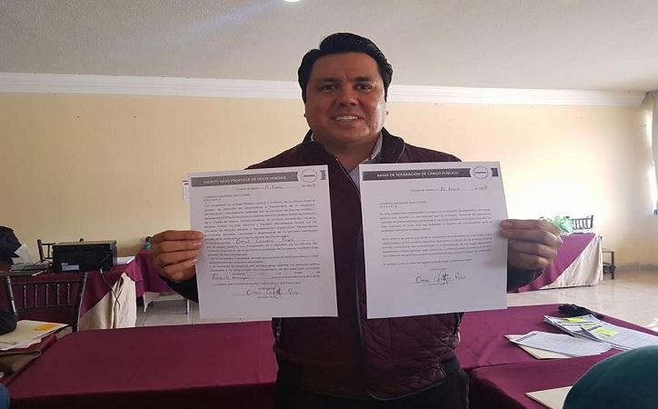 Se registra Omar carrera como precandidato a la alcaldía de Fresnillo