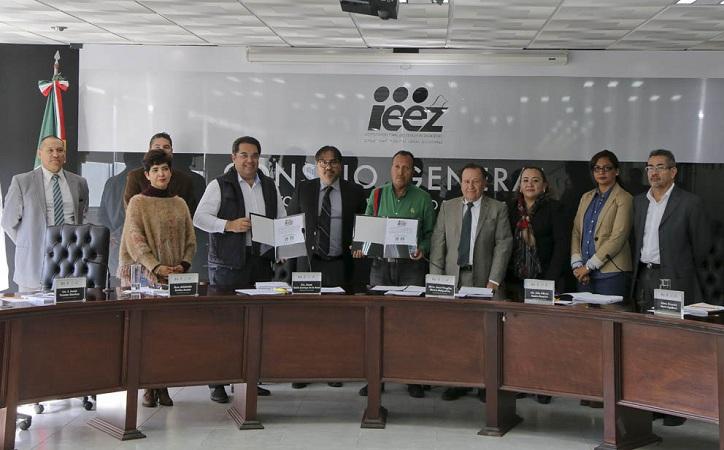 Aprueba IEEZ convenios de coalición de Morena, PT y PES, así como la del PRI y Pvem