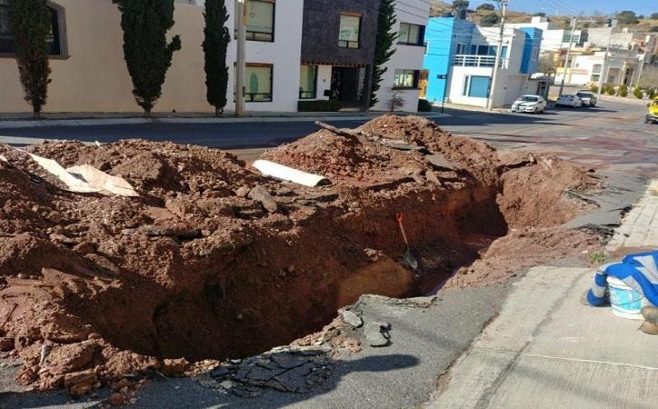 Escasez de agua en 30 colonias de Guadalupe por ruptura de red