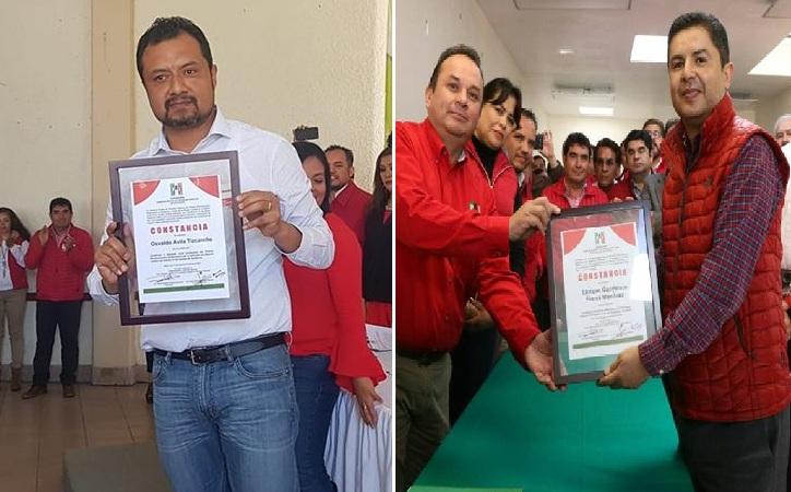 Reciben Osvaldo Ávila y Enrique Flores constancia del PRI como candidatos a diputado distrito IV y Presidente Municipal de Guadalupe