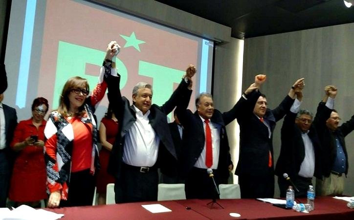 Toma protesta AMLO como candidato a la Presidencia de la República por el PT