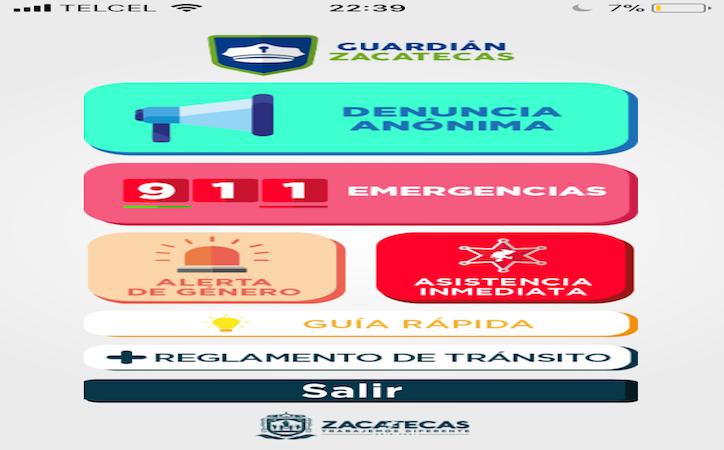 Guardián Zacatecas, la app para denuncia anónima suma mil descargas
