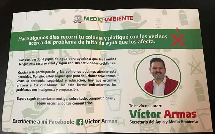 Víctor Armas sí usó propaganda oficial personalizada, determina Trijez