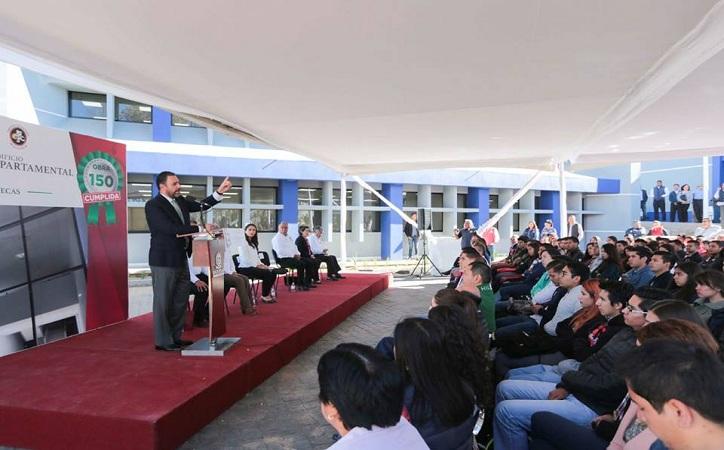 """""""Zacatecas está cambiando"""": Tello al inaugurar obra en IT"""
