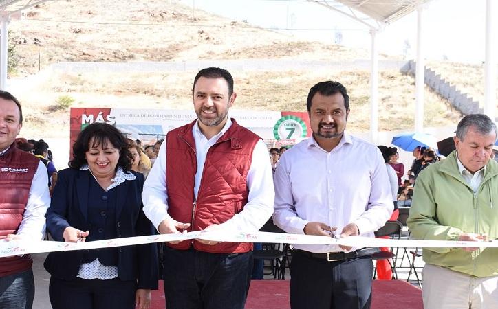 Entregan obras Gobernador y diputado antorchista en Guadalupe