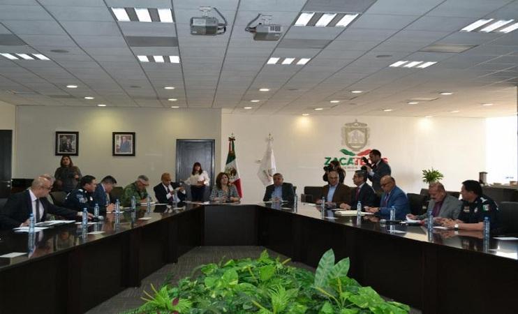 Dan seguimiento a acciones de seguridad y procuración de justicia de Zacatecas, San Luis Potosí y Aguascalientes