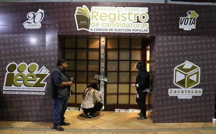Cierra IEEZ registro de candidaturas para diputaciones y ayuntamientos