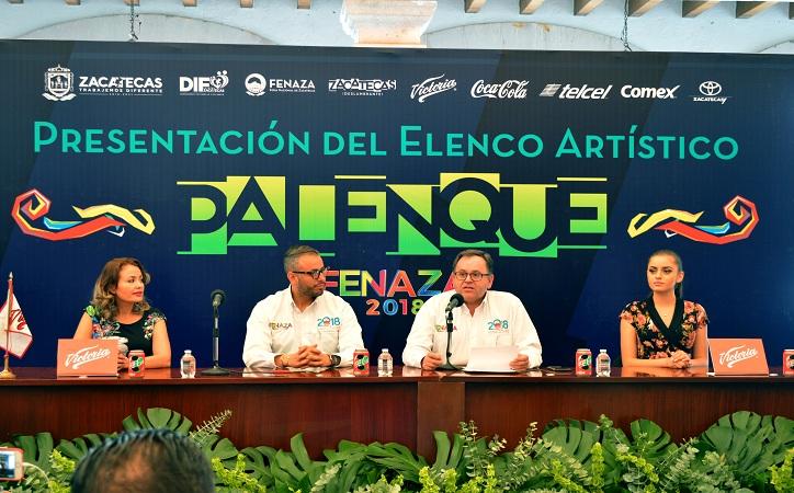 Presentan elenco del palenque FENAZA 2018