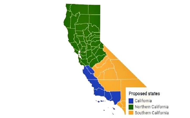 Fracasa propuesta para dividir California en tres estados