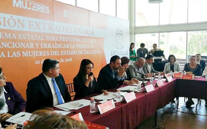 Zacatecas recibió la recomendación de implementar 32 acciones ante Alerta de Género