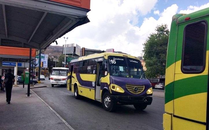 A partir del domingo 12 sube tarifa de transporte en Zacatecas