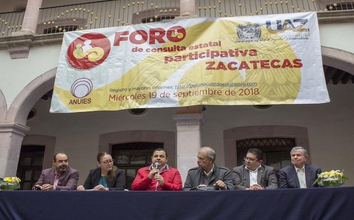 19 de septiembre, fecha para la consulta del Acuerdo Nacional sobre Educación en Zacatecas