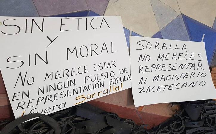 Repudia CNTE pretensión de que Soralla Bañuelos presida Comisión de Educación en LXIII Legislatura