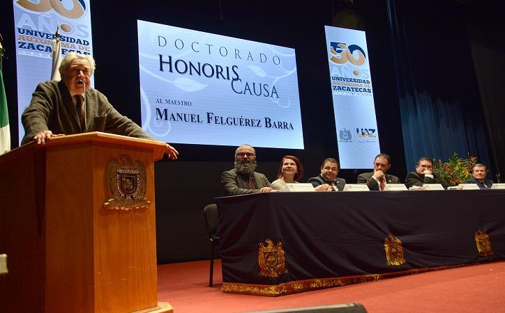 La UAZ otorga Doctorado Honoris Causa a Manuel Felguérez Barra