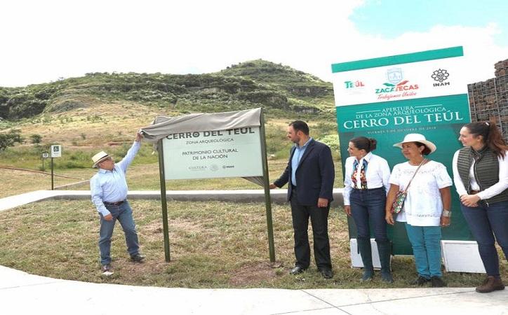 Inauguran sitio arqueológico Cerro del Teul de González Ortega, tercero en el estado