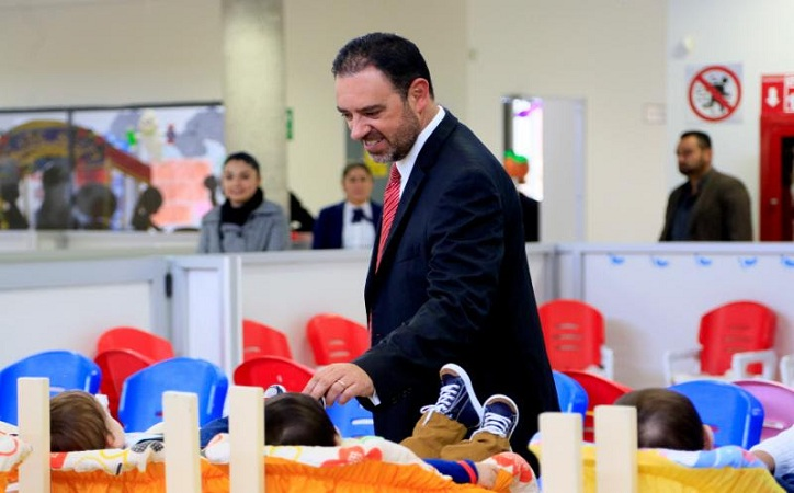 Anuncia Tello ampliación de guardería infantil de Ciudad Administrativa para atender a menores de preescolar