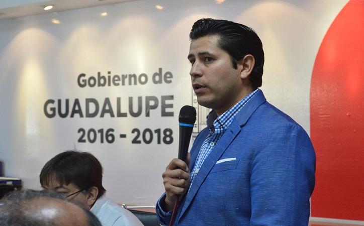 Alcalde de Guadalupe pide licencia indefinida por motivos personales