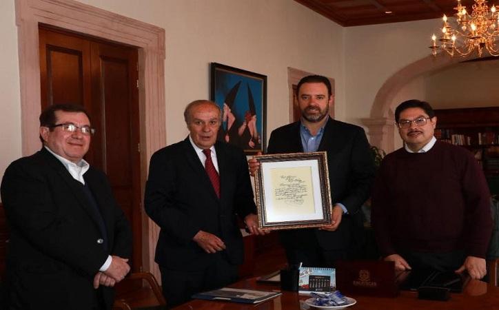 Recibe Tello documento original acerca del origen de la Marcha de Zacatecas