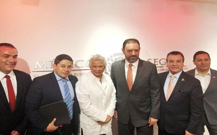 Tello se reúne con la Secretaria de Gobernación; Guardia Nacional, 3×1, Milpillas y nómina magisterial las solicitudes
