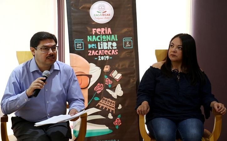 Presentan programa de la Feria Nacional del Libro Zacatecas 2019