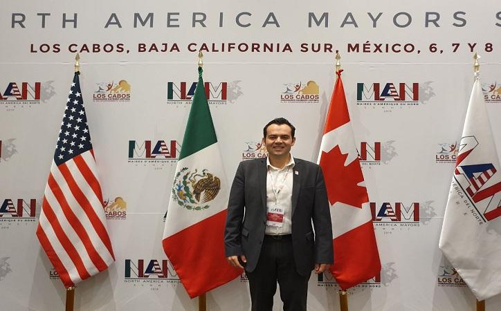 Ulises Mejía representa a la capital en la Primera Cumbre Internacional de Alcaldes de América del Norte