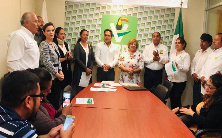 Rinden protesta nuevos dirigentes del PVEM de Zacatecas, Fresnillo y Guadalupe