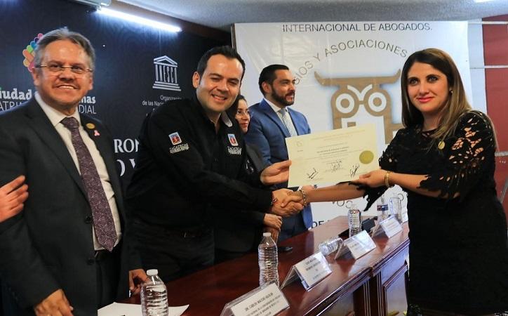 Refrenda Mejía Haro trabajo coordinado con Gremio de Abogados de México