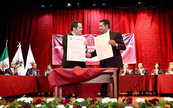 Zacatecas capital y Nochistlán firman hermanamiento