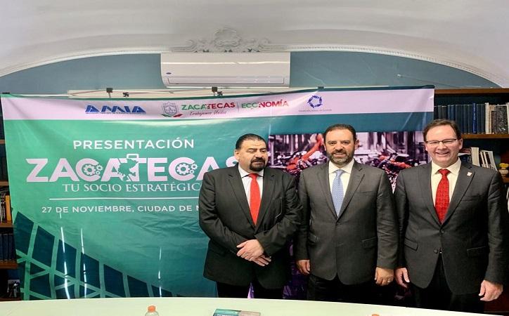 Tello promueve a Zacatecas como destino de inversiones para la industria automotriz