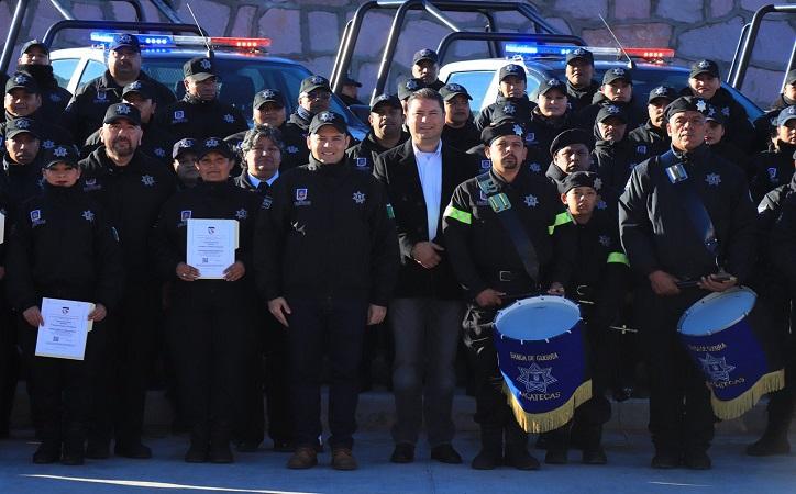 Reconoce Mejía Haro labor y desempeño de policías de proximidad por un Zacatecas seguro