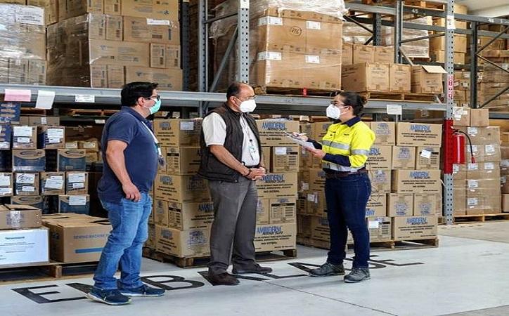 Dona Peñasquito 5.000 mascarillas y 2.000 cajas de guantes a SSZ