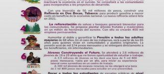 Presentan la boleta para consultas de Tren Maya y refinería